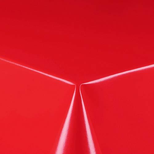 DecoHomeTextil Lackfolie Folie Tischdecke 0,15 mm Breite & Länge wählbar Rot 130 x 160 cm Eckig abwaschbar Bastelfolie