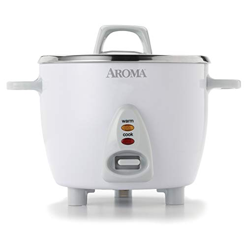 Aroma Housewares Select Stainless Rice Cooker & Warmer with Uncoated Inner Pot, 6-Cup(cooked) /...