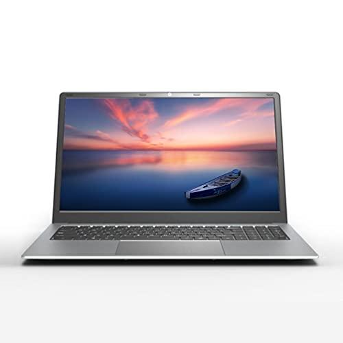 Ordenador portátil de 15,6 pulgadas, Windows 10 Pro, procesador Intel J4115 Quad Core, 8 GB de RAM, 128 GB SSD, pantalla 1920 x 1080 FHD, cámara web, ordenador portátil empresarial, color plateado