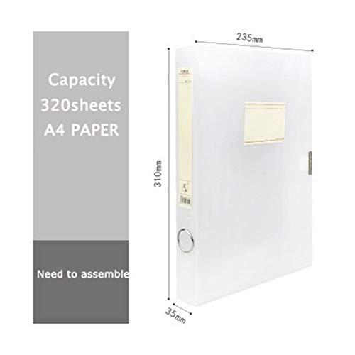 Tagebuch, A4, einfach, kreativ, transparent, Ordner, Büro, Informationsbox, Datei, Archivbox, Büro, Schule, Daten-Aufbewahrung, Ordner (Farbe: 31 x 23,5 x 3,5 cm)