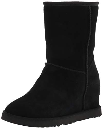 UGG Female Classic Femme Short Classic Boot, Black, 6 (UK)