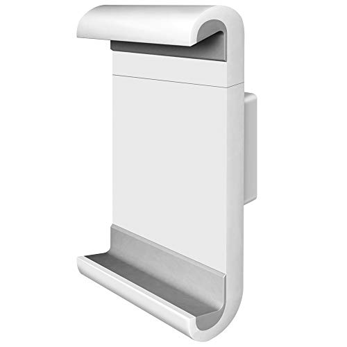 Barkan 7-12 inch Fixed Tablet Wall Mount 3 lbs White Firm Tablet Clamp 360 Degree Rotation Very Low Profile
