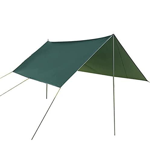 QI-CHE-YI Carpa de Playa, Pérgola, Tolding Multi-Person Tolera para Camping, Pesca, Entretenimiento Backyard, Picnic,Verde