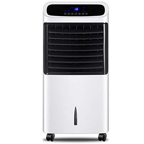 Para dormitorios de interior de la oficina doméstica Enfriador evaporativo y calentador Enfriador de aire portátil con ventilador y humidificador Ventilador silencioso sin cuchilla con control remoto