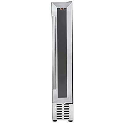 Cookology CWC150SS 15cm Wine Cooler in Stainless Steel, 7 Bottle Undercounter Cabinet