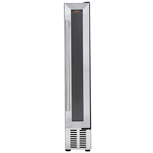 Cookology 15cm Wine Cooler, 7 Bottle Undercounter Freestanding Cabinet Fridge (Stainless Steel)