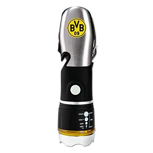 Borussia Dortmund Unisex– Erwachsene Multifunktions-Taschenlampe 8 in 1 DS Direct BVB Campingstuhl Logo, schwarzgelb, one size