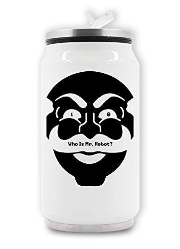 RaMedia 10 Wie Is De heer Robot Masker Art Cyber Hacker Elliot Tv Thermische Drank Kan