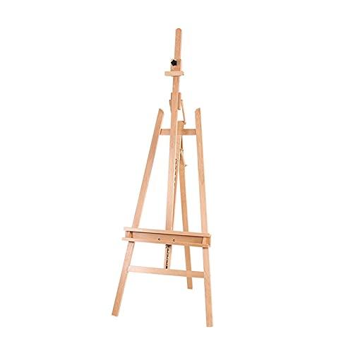 JUULLN Estudio de Pintura al óleo múltiple de Estudio, Uso de Piso de Uso Interior, Soporte de exhibición Multifuncional (Color : Wood Color)