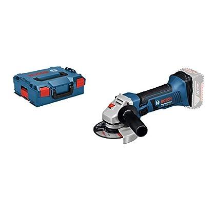 Foto di Bosch Professional 060193A308 Smerigliatrice Angolare GWS 18-125 V-LI, Nr Vuoto: 10.000 Giri/min, Ø Disco: 125 mm, Batterie/Caricabatteria Non Inclusi, 18 V, Blu, 12.7 cm