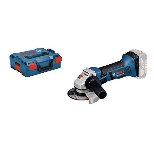 Bosch Professional GWS 18-125 V-LI Amoladora angular, 10.000 rpm, diámetro disco 125 mm, sin batería y cargador, en L-BOXX, 18 V, Negro/Azul, 12.7 cm