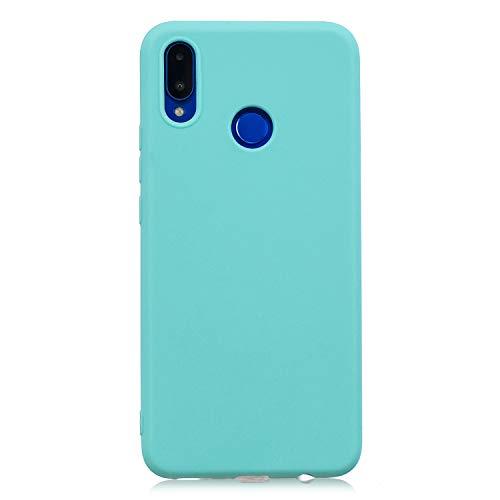 cuzz Funda para Huawei Nova 3i / P Smart Plus+{Protector de Pantalla de Vidrio Templado} Carcasa Silicona Suave Gel Rasguño y Resistente Teléfono Móvil Cover-Azul Claro