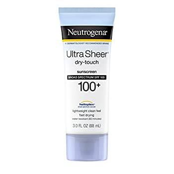 Neutrogena Ultra Sheer Dry-Touch Water Resistant and Non-Greasy Sunscreen Lotion with Broad Spectrum SPF 100+ 3 Fl Oz  Pack of 1