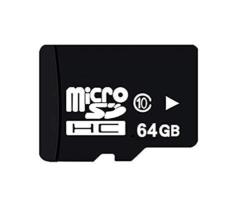 Elfcam – Tarjeta de memoria Micro SD/TF, clase 10, tarjeta SD para cámara de vigilancia/teléfono / MP3 / GPS/Tablet PC (64 GB, velocidad de lectura hasta 100 MB/S)