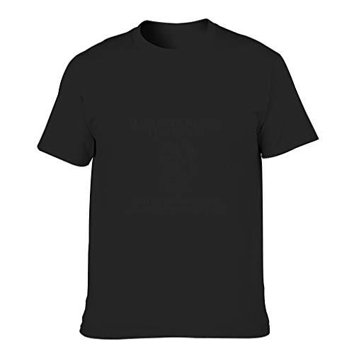 Camiseta de algodón para hombre con texto en alemán 'Ich Bin nicht unhöflich Coole individualidad Coole, agradable para la piel, diseño de manga corta negro M