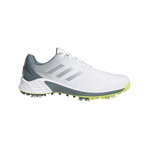 ADIDAS ZG 21, Zapatos de Golf Hombre, Blanco/Amarillo/Azul, 44 EU