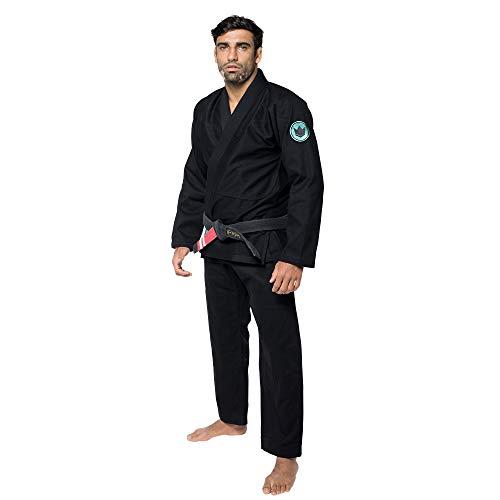 KINGZ IBJJF Mens - Classic 3.0 | Brazilian Jiu Jitsu Gi | Black A1