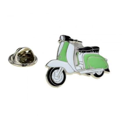 Poeder Groen & Wit Emaille Metalen Pin Badge