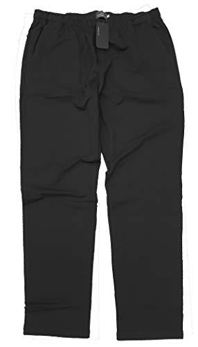 taglie forti Pantalone Uomo Donna Tuta Interno Felpato Caldo Oversize Calzone (Taglia 5XL, Nero)