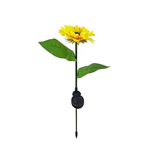 NEYOANN Luz solar llevada de la flor del girasol al aire libre impermeable de la decoración del jardín para la decoración del césped