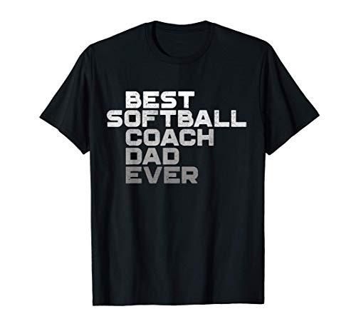 Mens Best Softball Coach Dad Ever Football Coach T-Shirt