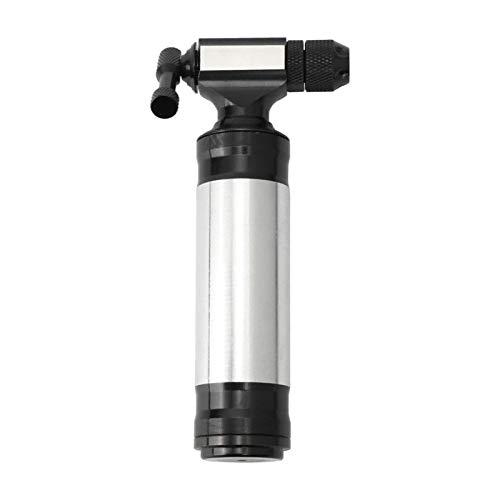 SunniMix Inflador de CO2 de transporte Manual-se adapta a la válvula de bicicleta Presta y Schrader-bomba de neumáticos de bicicleta para bicicletas de - Pump and Sleeve
