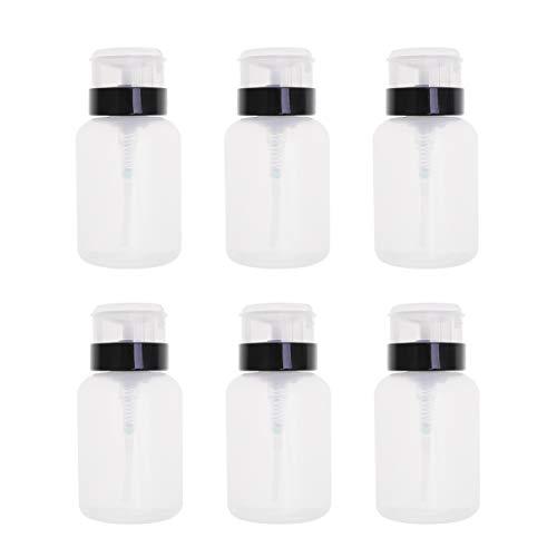 Beaupretty 6pcs Distributeur de vernis à ongles décapsuleur à pression pour bouteille de fluide pour Nail Art fluide 250ML (Noir et Blanc)