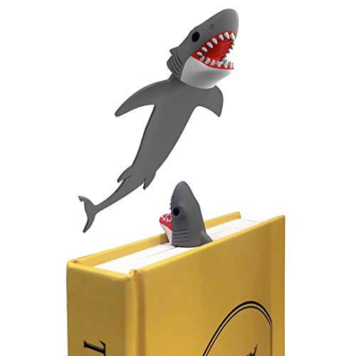 OYLZ 3D Giant Shark Bookmark Cool Bookmarks for Kids Boys Girls Teens Men Women