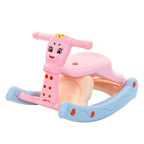 NXYJD Children 3 In 1 Rocking Horse Multi Function Baby Thickening Dining Chair Dual Use Seat Kids Indoor Toys