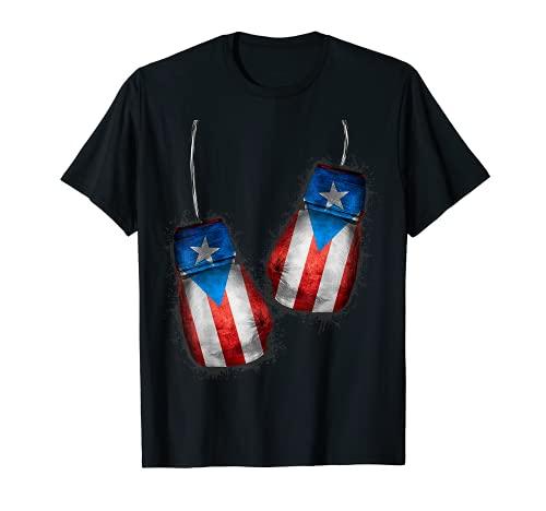Boricua Boxers | Guantes de Boxeo Bandera de Puerto Rico Camiseta