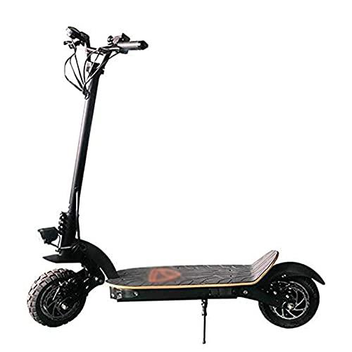 JAJU Scooters eléctricos portátiles, Potencia Total de Doble accionamiento 2000W, batería de Litio de 52V/13AH, Velocidad máxima de hasta 45 km/h, Scooters portátiles Plegables para Adultos
