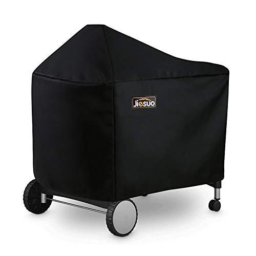 JIESUO BBQ Grill Cover for Weber Performer Deluxe Charcoal: Heavy Duty Waterproof 22 Inch BBQ Cover for Weber Performer Charcoal Grills