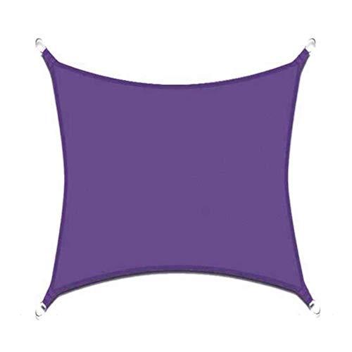 sun shade sail Rectángulo Impermeable de poliéster Cortina toldo en Colores Vibrantes 0726 (Color : Purple, Size : 3X5M)