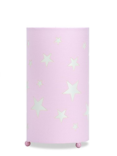 Aratextil Martina Lampe de Table, Coton, Rose, 24.5 x 13 cm