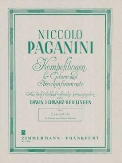 CANTABILE D-DUR OP 17 - arrangiert für Violine - Gitarre [Noten / Sheetmusic] Komponist: PAGANINI NICCOLO