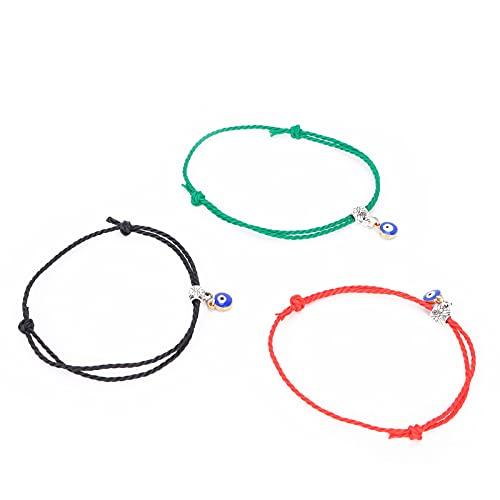 Pulseras de cuerda, resistente al desgaste, resistente, de moda, conveniente, pulsera de nailon para bodas, Navidad, cumpleaños, vacaciones.