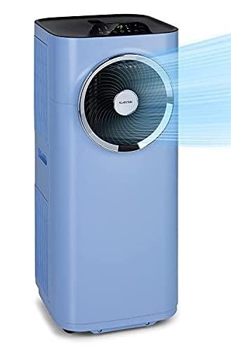 KLARSTEIN Kraftwerk Smart - Climatiseur Mobile, Déshumidificateur, Ventilateur, Minuterie programmable, Contrôle Via Application WiFi, Télécommande, 10000BTU/h - Bleu pastel