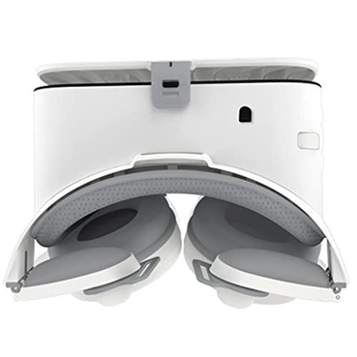 ZJJY Gafas de Realidad Virtual, 3D Gafas VR para Juegos Visión Panorámico 3D Juego Immersivo Móviles de Pantalla 4.7-6.3 Pulgadas para iPh X/7/6s 6/Plus, Galaxy s8/ s7, etc. L104XQ