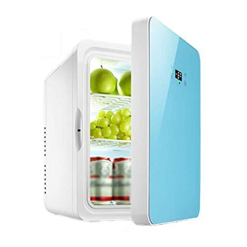 ADHW, 2-in-1 digitale mini-koelkast, koelbox, warmhoudbox, campingkoelkast, 12 V/110-240 V (22 L) voor het kamperen, koel eten om te drinken Dual Core Digital 22l Blue