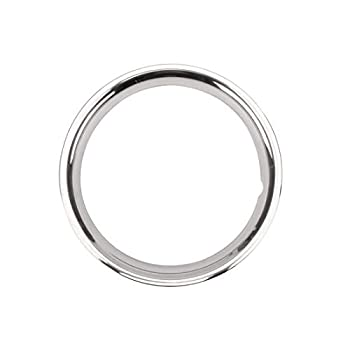Speedway Motors Stainless Steel Beauty Ring for 15 Inch Rally Wheel 2 Inch Wide