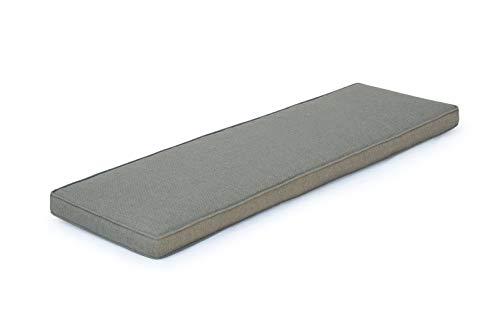 OUTFLEXX Bankauflage, grau, Olefin, 150x40x5cm, Kissen für Bank ohne Armlehne