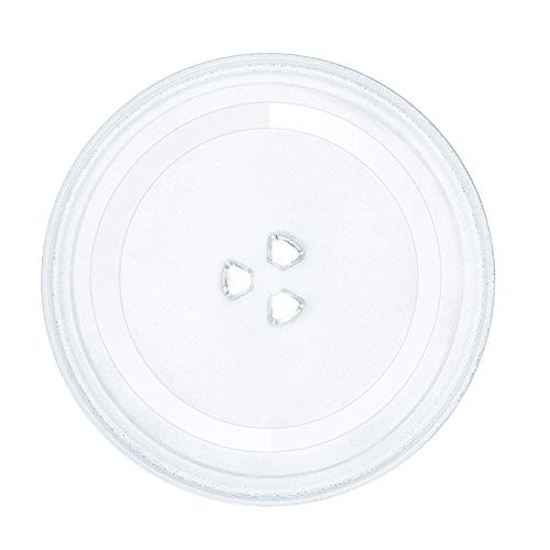 HapWay Small 9.6'/24.5cm Microwave Glass Plate Replacement, Microwave Glass Turntable Tray Replaces for Small Microwaves