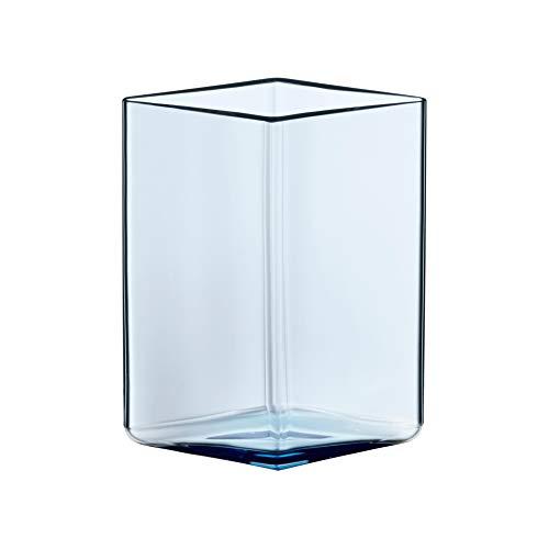 Iittala Ruutu Vase, transparent blau, 115x140mm