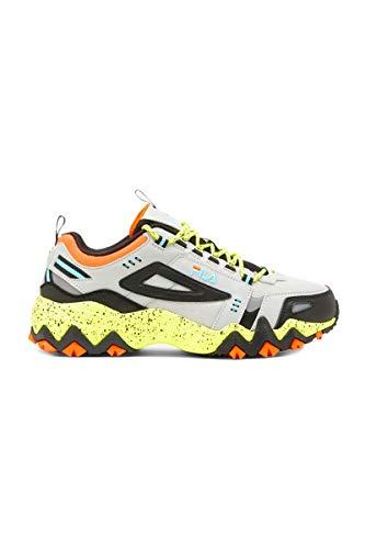 Fila Men's Oakmont TR Fashion Sneakers Highrise/Black/Safety Yellow 10.5