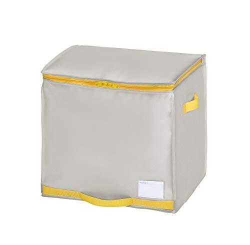 東和産業 ふとん収納 グレー 約36×40×35cm コンパクト優収納 アルファ 羽毛ふとん 棚上用
