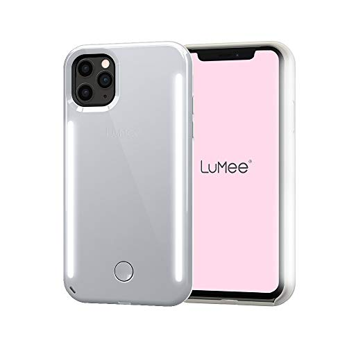 LuMee Duo by Case-Mate - iPhone 11 Pro - Dual Light Up Selfie Case - Front & Rear Illumination - Mirror Silver (LM041720)