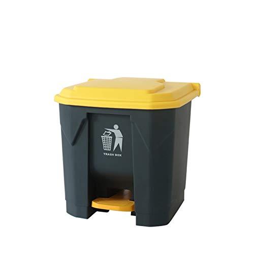 Chang-S-Q-123 Papelera De Reciclaje De La Basura De La Cocina, 20L / 30L Tipo De Pedal De Pedal Bin De Residuos De Plástico Home Sala De Estar Hotel Aula Rubbish Barjeta De Basura Co(Size:20L,Color:A)