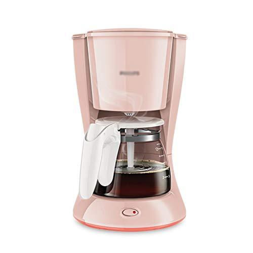 Maquina de Cafe Filtro Rosa Máquina de café Espresso Coffee Anti Drip Drip de Goteo instantáneo Máquinas de café Inicio Máquina de café Totalmente automática 220V-0.6L Cafetera (Color : Pink)