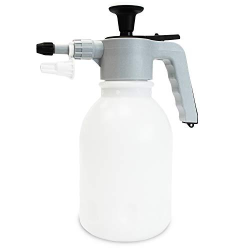 Putzen wie die Profis Drucksprühflasche Spraymatic | Pump Sprühflasche für Autowäsche & Felgenpflege| Druckpumpzerstäuber lösungsmittelfest | inkl. Schaumsprühaufsatz & Gratis-Probe GlasRein