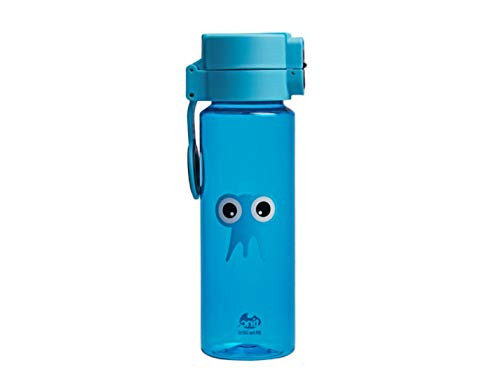 Tinc Tonkin Tribal Character design Flip and Clip lockable leak-proof water bottle with BPA free plastic - Blue Water Bottle - Blue, 500ml